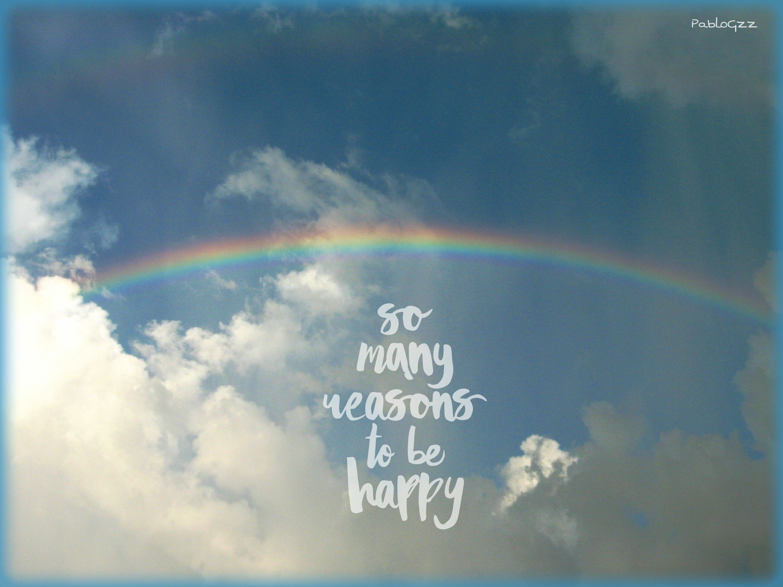 rainbow happy quotes quotesandsayings sky clouds
