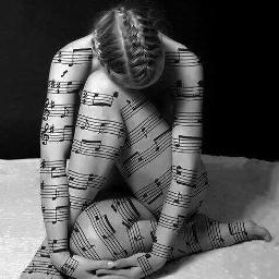 woman blackandwhite music sheetmusic photography