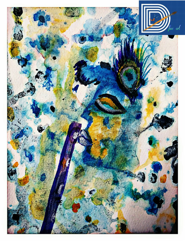 #FreeToEdit watercolor KRISHNA  #hdr #define #art