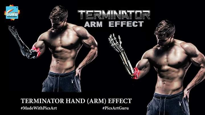 How to Make a Terminator Arm Effect With PicsArt Photo