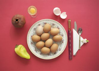 freetoedit stilllife red eggs plate