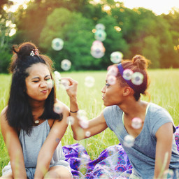 freetoedit people photography bubbles friends