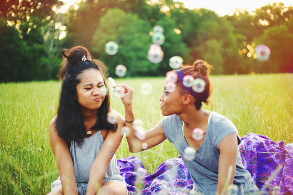 #FreeToEdit #people #photography #bubbles #friends