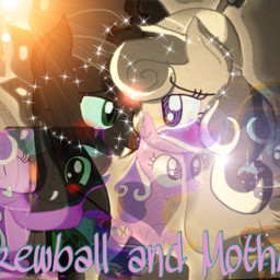 mlp daughterofdiscord screwball mothball romance