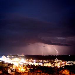 city edirne lightning y sky