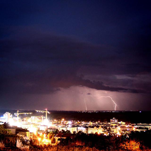 #city #edirne #lightning  #yıldırım #sky #clouds #canon