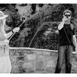 blackandwhite photography people selfie