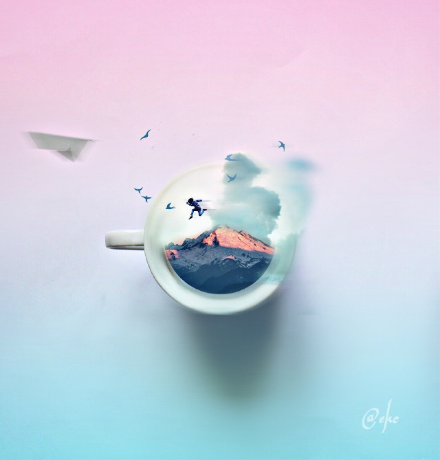 """#FreeToEdit """" Chasing dreams """" Every dream begins with a dreamer and every morning can begin with a dream """" #wapshapes #candyminimal #wapwindy #nettesdailyinspiration #surreal #illusions #whimsy  #mystery #dreamy #cute #clipart #minimalism"""