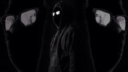 interesting black portrait cryptic