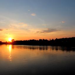 river meri sunset clouds edirne