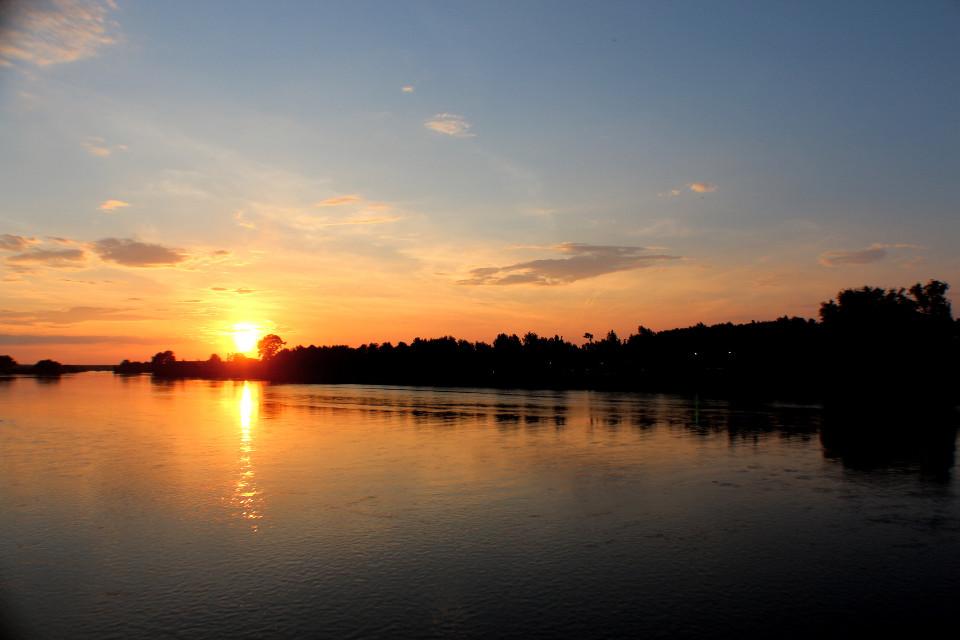 #river #meriç #sunset #clouds  #edirne #today