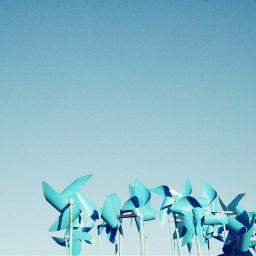 sky skyblue windmill