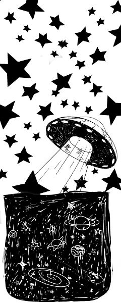 freetoedit blackandwhite stars aliens space