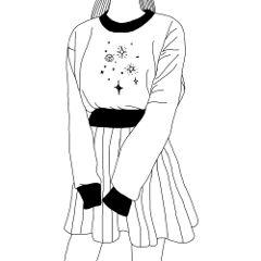 art artwork blackandwhite cute tumblr freetoedit