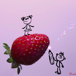 today national pinkday simple strawberry freetoedit