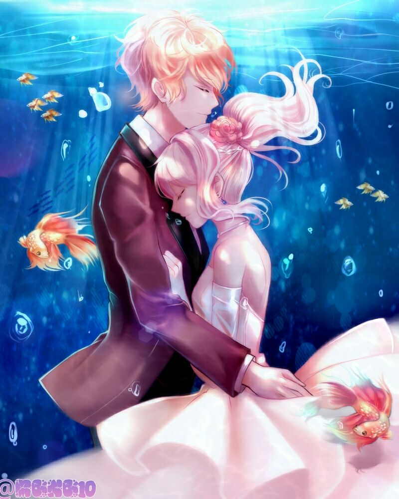 Anime diabolik lovers anime girl boy fish love