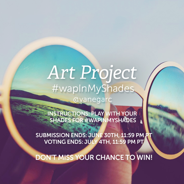 Use PicsArt to create an amazing reflection in your sunglasses for the Weekly Art Project. Show us the world through your eyes in the mirrors of your lenses and share your creation with #wapInMyShades to enter. Tutorial here: https://picsart.com/tutorials/in-my-shades          (Banner image by @vanegarc )