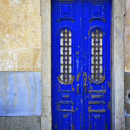 olddoor colorful royalblue photography