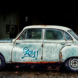 cars photography rain retro winter