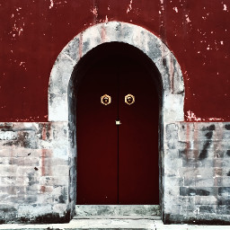 gate red wall