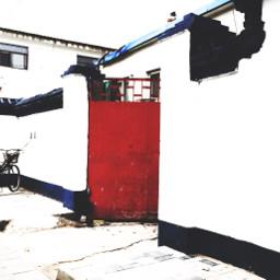 door beijing red white blue