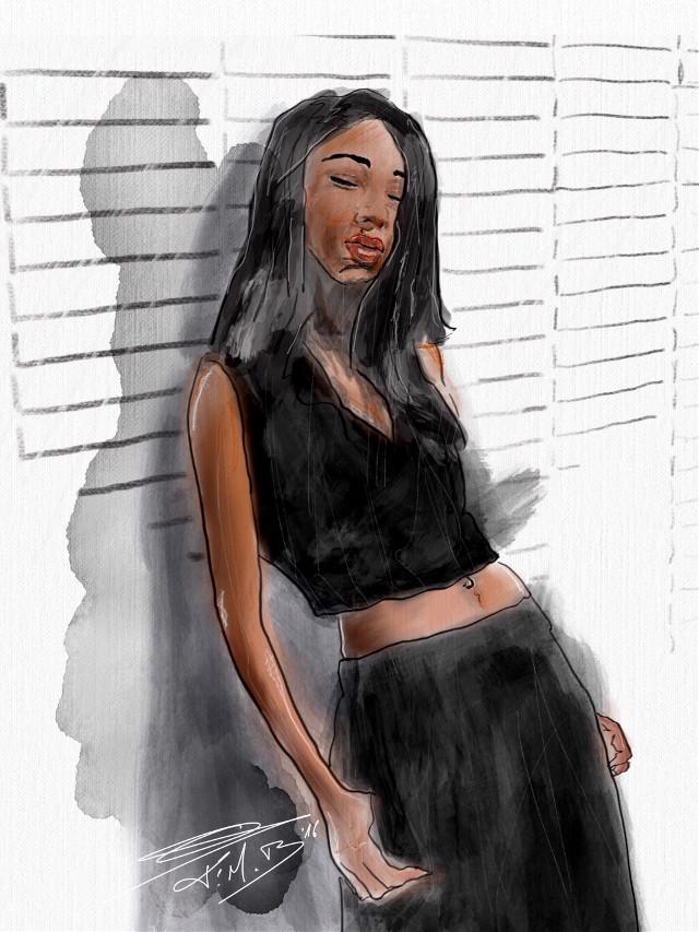 #drawing #painting #edited #girl #model #fashion #aquarelle #watercolor #mixedmedia #freetoedit   Original by @maxxncheese