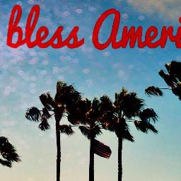freetoedit america flag palmtrees godblessamerica