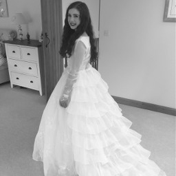 dress wedding blackandwhite like love