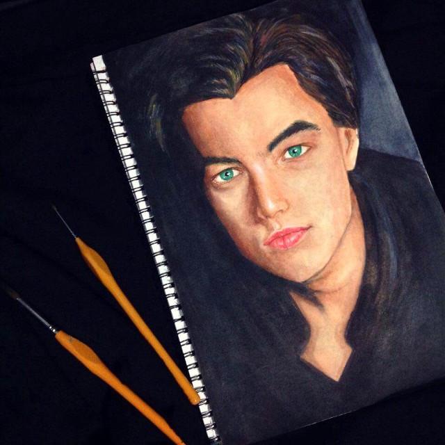 Leonardo Dicaprio - when he was young 😄 #painting #watercolor #leningrad