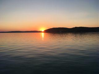 balaton beautiful sunset colorful