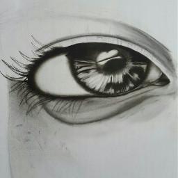 eyes charcoal art blackandwhite emotions