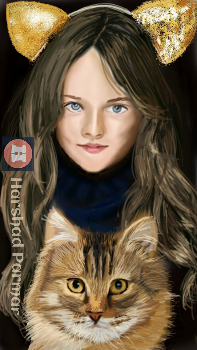 #wdpcatears#catears band#girl#cat#petsandanimals #digital#art Thanx in advance for ur likes, votes& reposts.
