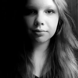 girl blackandwhite photography selfie artistselfie