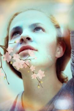 freetoedit woman flowers edited publicimage