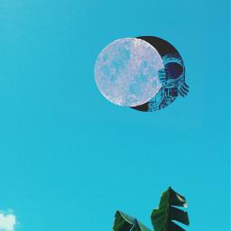 freetoedit space moon sky