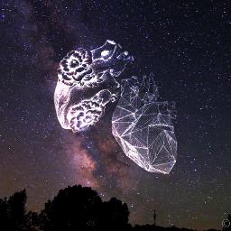 heart space milkyway stars
