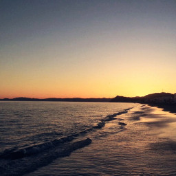 life sunset beach nature travel