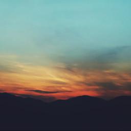 nature sky sunrise landscape beautiful