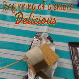 delicious yummi smore chocolate grahamcrackers