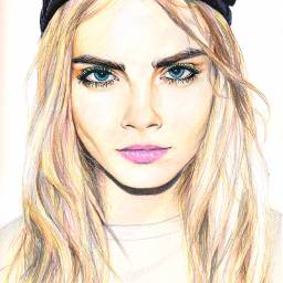caradelevigne lovely draw drawing
