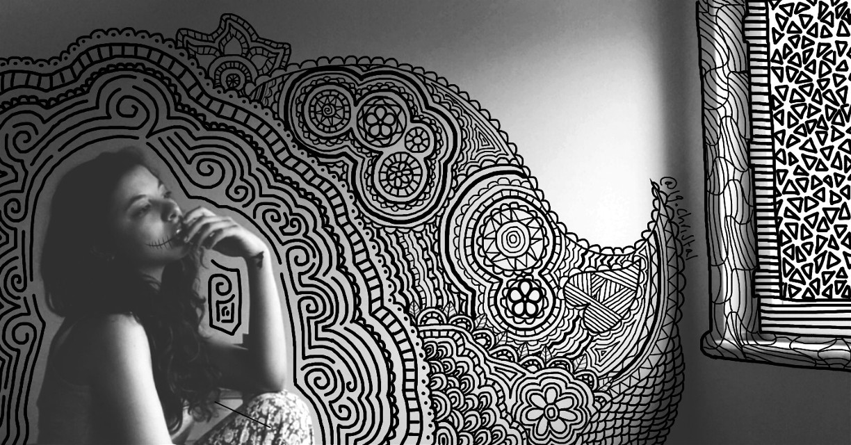 """""""I can't get my mind off of you.. I miss you so much ... if you're reading this, then you know what I'm talking about.. just message that you miss me too and I'll be okay .""""  -e.m #FreeToEdit #zentangles"""