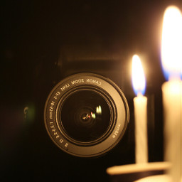 oldphoto photography vintage candles camera reflection