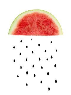 watermelon rain freetoedit