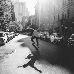 freetoedit blackandwhite grittystreet newyork skateboard