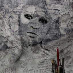 drawing artistic blackandwhite black sketch freetoedit