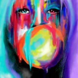 wdpgrimeart colorful colorsplash popart art